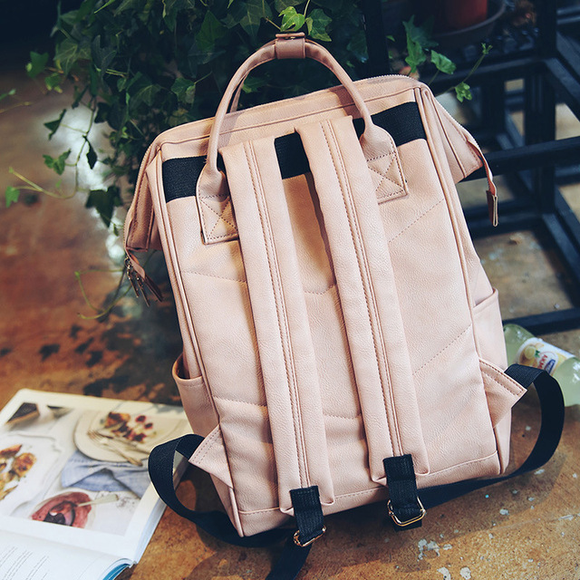 Fashion Women Leather Backpack Youth Korean Style Shoulder Bag 4