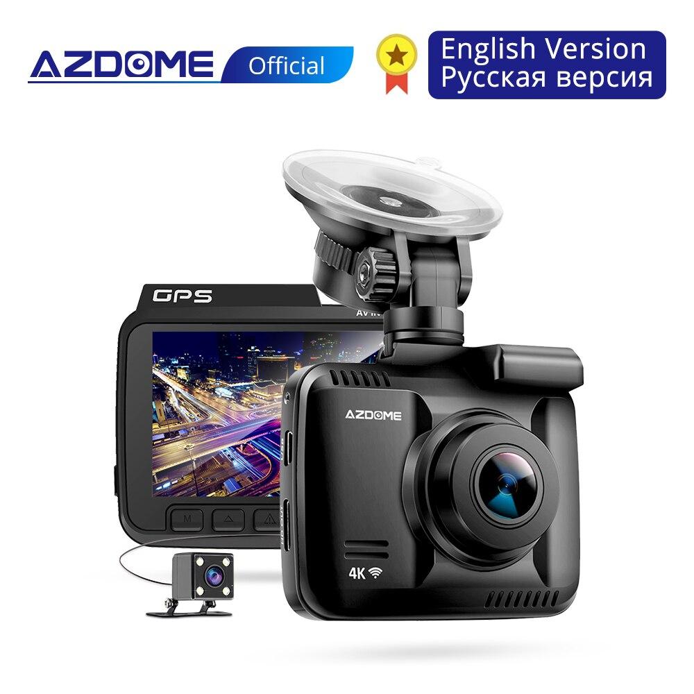 AZDOME GS63H 4 K construido en GPS WiFi coche DVR grabador Dash Cam Dual lente trasera del vehículo Cámara videocámara de la visión nocturna de la cámara