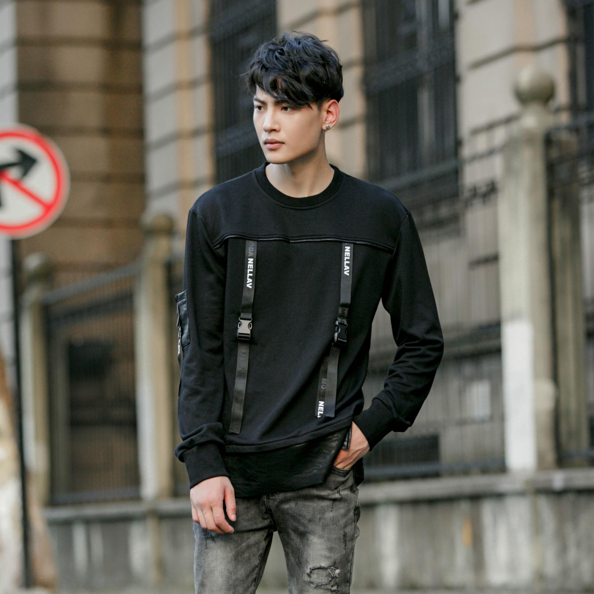 The new fall font b men b font head o neck hoodies long sleeved font b