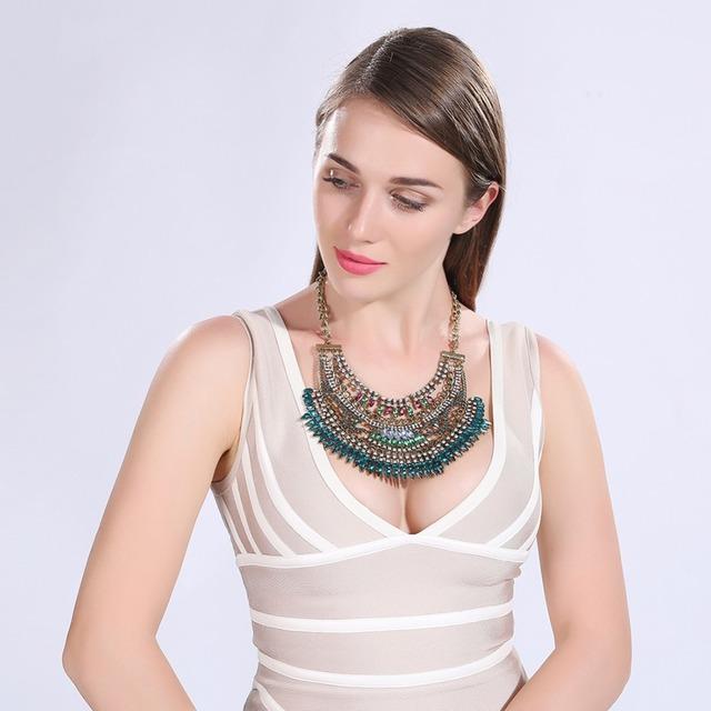 2016 nuevo bronce Largo Collar de 47 + 7 cm Mujeres resina colores n213 regalo Envío Libre de la Marca de Joyería de Moda