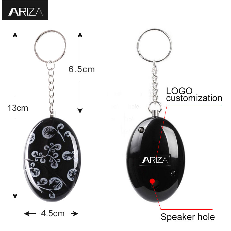 Ariza hot sale emergency personal alarms electronic personal safety alarm panic keychain alarm anti-rape anti-attack for women high quality mini personal portable guard safety security egg alarm keychain 3 colors hot sale waterproof