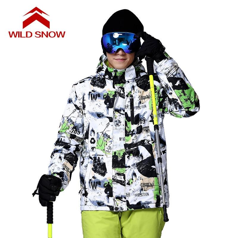 WILD SNOW 2017 Nowe Zimowe Kurtki Narciarskie Garnitur Mężczyźni - Ubrania sportowe i akcesoria - Zdjęcie 3