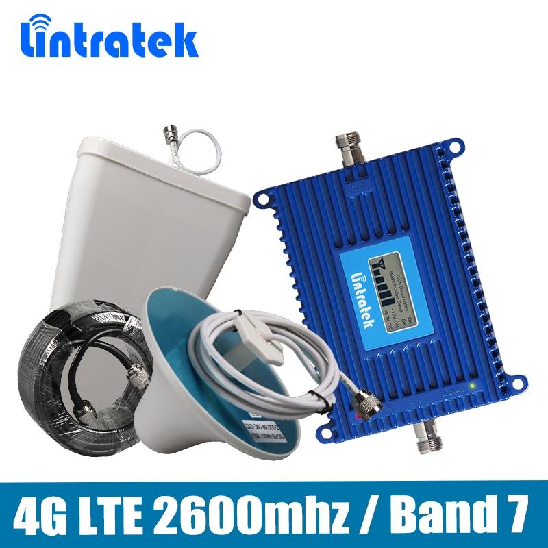 Verstärkung 70dB 4G LTE 2600 Signal Booster 4G LTE 2600 mhz (Band 7) mobilen Signalverstärker vollen satz mit LPDA/Decke Antenne + 15 Mt Kabel