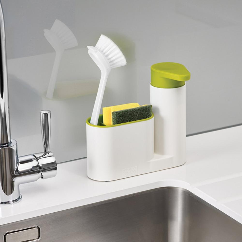 Yfashion Kitchen Multifunctional Sink Soap Detergent Appliances Sponge Drainage Receptacle Toilet Hand Sanitizer