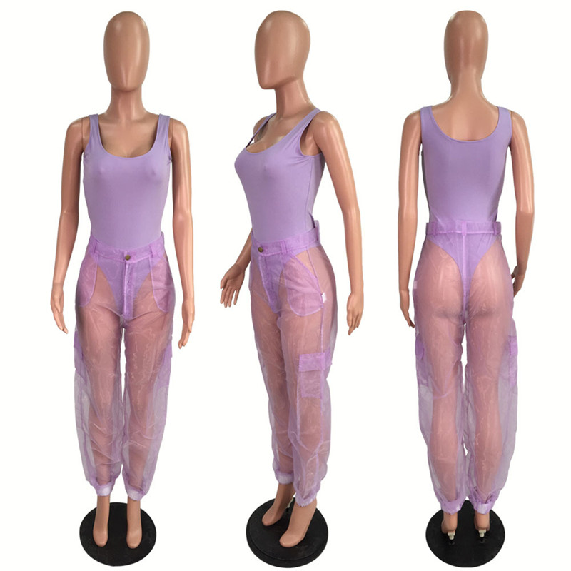 HTB1abB0Xfb2gK0jSZK9q6yEgFXay - ANJAMANOR Sexy Two Piece Set Bodysuit Top and Mesh Pants Neon Pink Green Summer 2 Piece Club Outfits Matching Sets D59-AB72