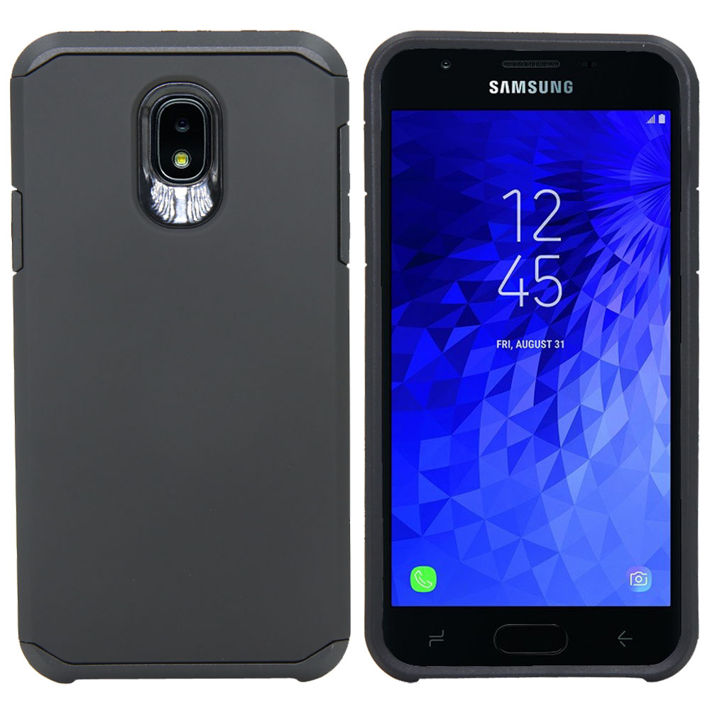 Metallic Front Cover Case In Gray Products Hot Sale Latest Collection Of Samsung Galaxy J3 2018