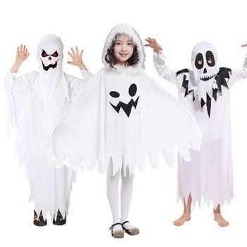 69688d05a0ee Umorden Purim Costumi di Carnevale di Halloween Spaventoso Bambini Bambini  Bianco Costume Del Fantasma Cosplay Robe per le Ragazze Dei Ragazzi