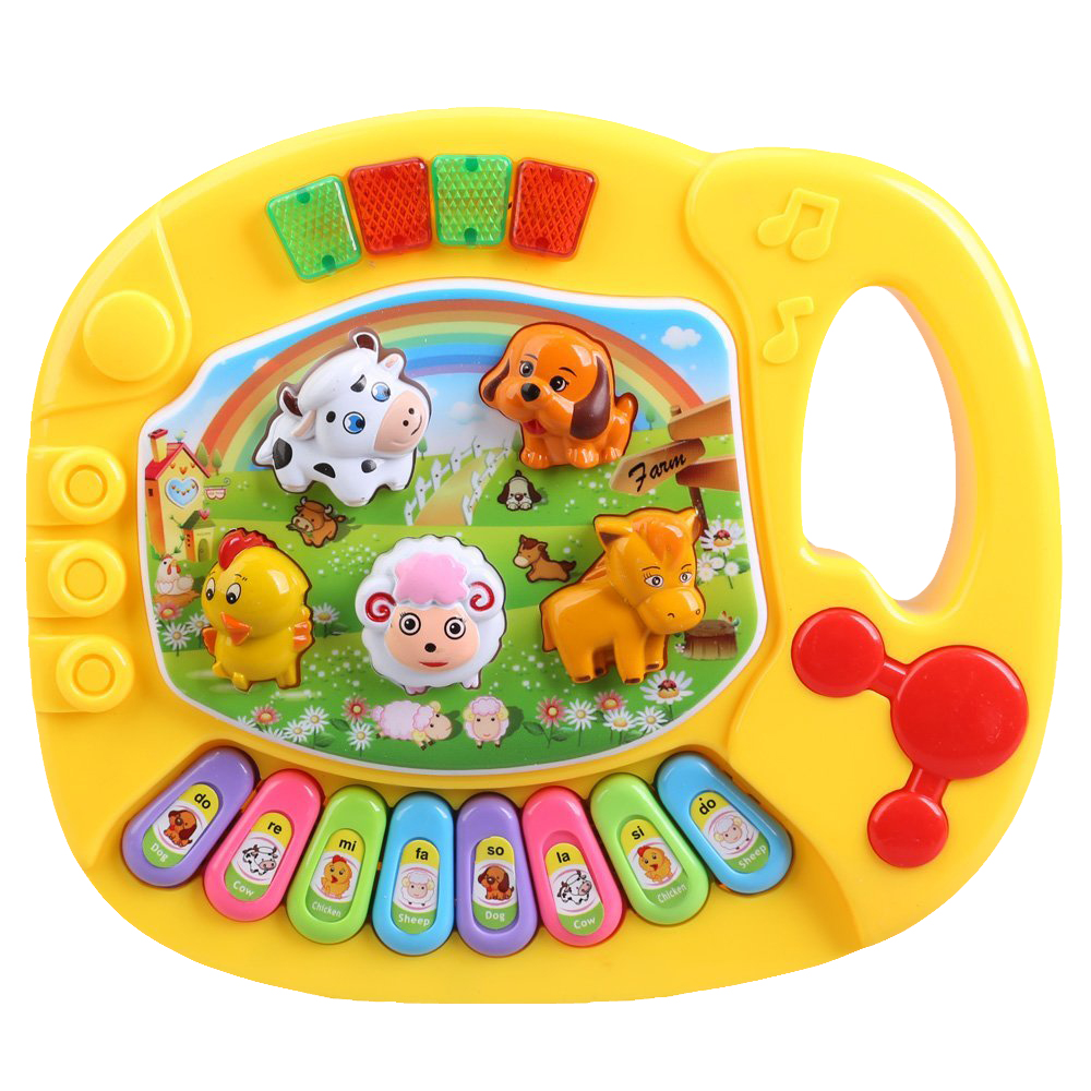 HOT Baby Kids Musical Educatief Animal Farm Piano Developmental Muziek Speelgoed 1
