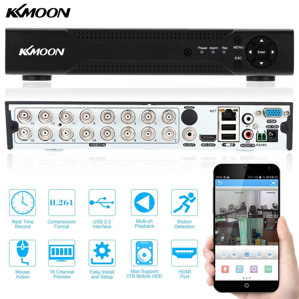 KKmoon 720P AHD DVR 16CH HD CCTV DVR видео рекордер P2P телефон дистанционного просмотра для дома или магазина безопасности видео наблюдения AHD-in Видеорегистратор для видеонаблюдения from Безопасность и защита
