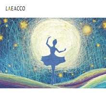 Laeacco Fairy Tale Dance Girl Ballet Baby Portrait Photography Backgrounds Customized Photographic Backdrops for Photo Studio