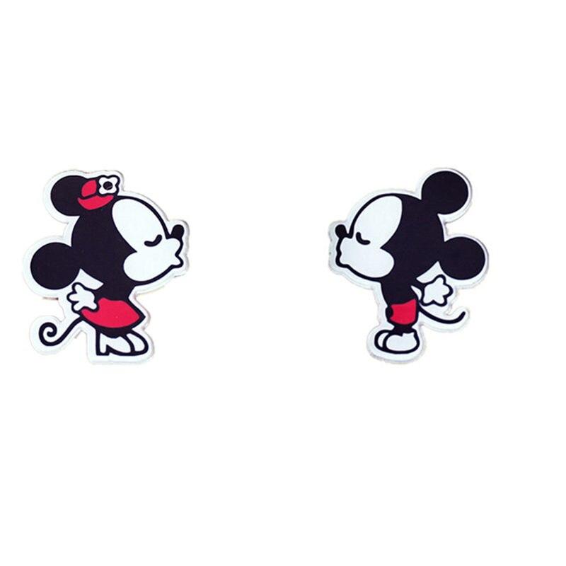 1pcs Mickey Minnie Harajuku Kawaii Cartoon Animal Brooch Pin