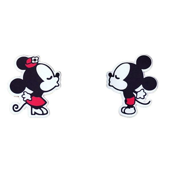 1PCS Mickey Minnie Harajuku Kawaii Cartoon Animal Brooch Pin Acrylic Anime Badge Packback Clothes Icon Brooches