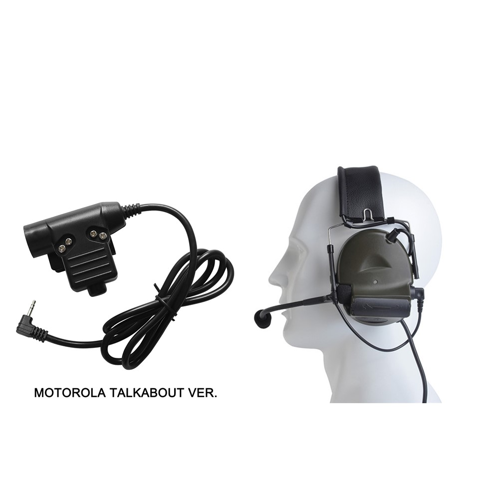 Tactical Headset Comtac II Active Noise Reduction Airsoft Military Headset + PTT Plug For Military Headset Adapter U94 PTT