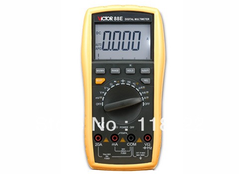 Digital Multimeter/Victor/VC88E/3 3/4 Auto Range Temperature Test Streamline Design & Large LCD Display digital multimeter victor vc86b usb interface auto range multifunctional
