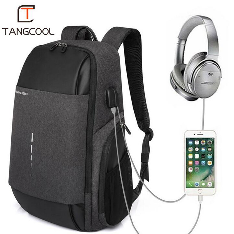 Tangcool Big Backpack Men Fashion Travel Waterproof USB Charging School Bags For Teenagers Designer Men Laptop Backpack Student new design usb charging men s backpacks male business travel women teenagers student school bags simple notebook laptop backpack