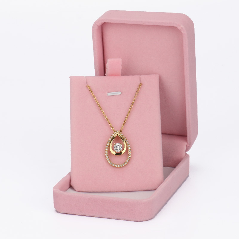 Us 10 4 Custom Paper Hot Pink Jewelry Gift Boxes High End Custom Box Packaging Necklace Hot Selling Fancy Jewelry Box In Jewelry Packaging Display