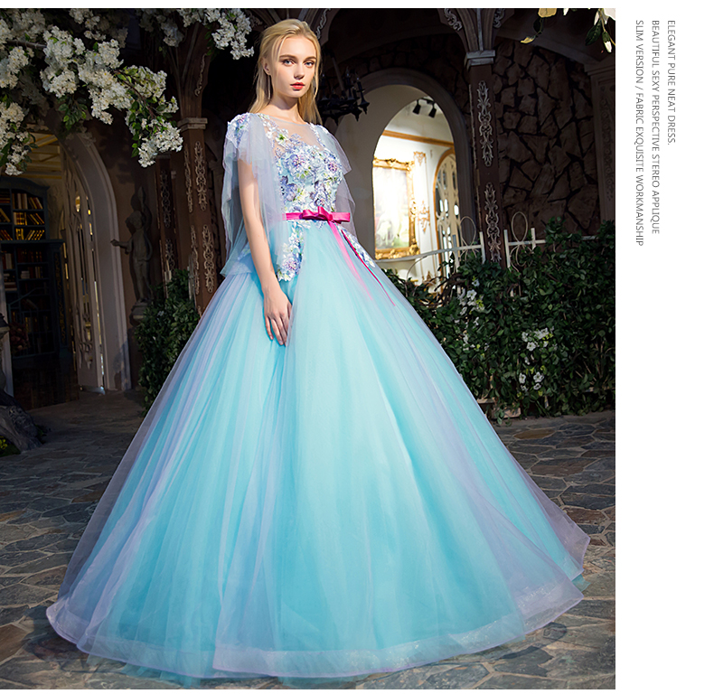 Medieval Renaissance Light Blue And White Gown Dress: 100%real Light Blue Luxury Beading Embroidery Butterfly