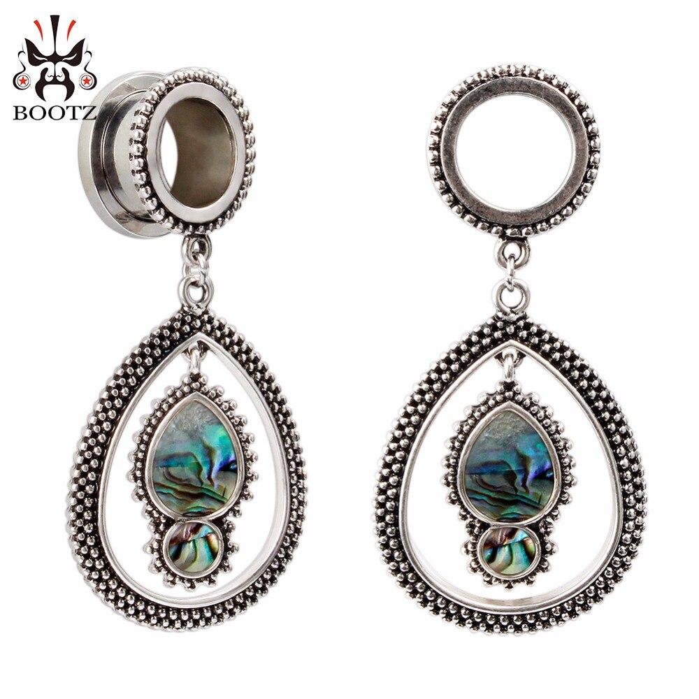 KUBOOZ Pendant Ear Plugs Stainless Steel Ear Gauges Plug Tunnel Piercing Body Jewelry Screw Earrings Fashion Gift 2G 0G 00G-in Body Jewelry from Jewelry & Accessories    1