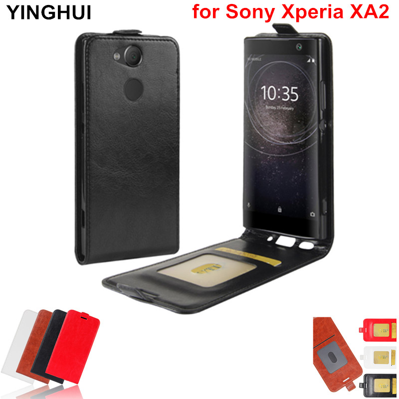 Luxury Vertical Flip Case Cover for Sony Xperia XA2 Case 5.2 inch Coque Funda Phone Cases PU Leather Case for Sony Xperia XA2