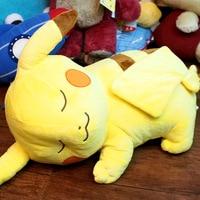 60cm Original Japan Pocket Monster Cute Sleepy Pikachu Stuff Plush Toy Doll Children Birthday Gift Collection