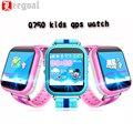 Q750 kid smart watch reloj localizador gps wifi monitor de libras teléfono 1.54 Pulgadas de Pantalla Táctil SOS Dispositivo Seguro Anti-Perdido Ubicación Tracker