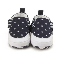 Baby Shoes Spring Canvas Baby Soft Girl Shoes First Walkers Baby Girl Shoes Striped Anti-Slip Prewalker 2018 Baby's First Walkers