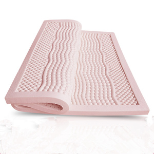 """3"""" Thickness Queen Size 7 Zone 100% Natural Tourmaline/Negative Ion/Anion Latex Mattress with White Inner Cover Midium Soft"""