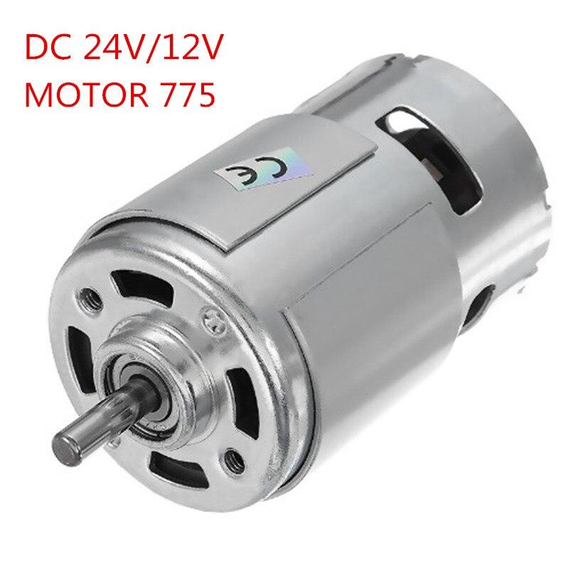 24V CC/12 V 15000RPM alta velocidad gran par Motor CC 775 herramienta eléctrica nuevos motores y piezas Motor CC