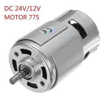 24V DC/12V 15000RPM alta velocidad alto par DC 775 Motor eléctrico herramienta nuevos motores y piezas de Motor DC