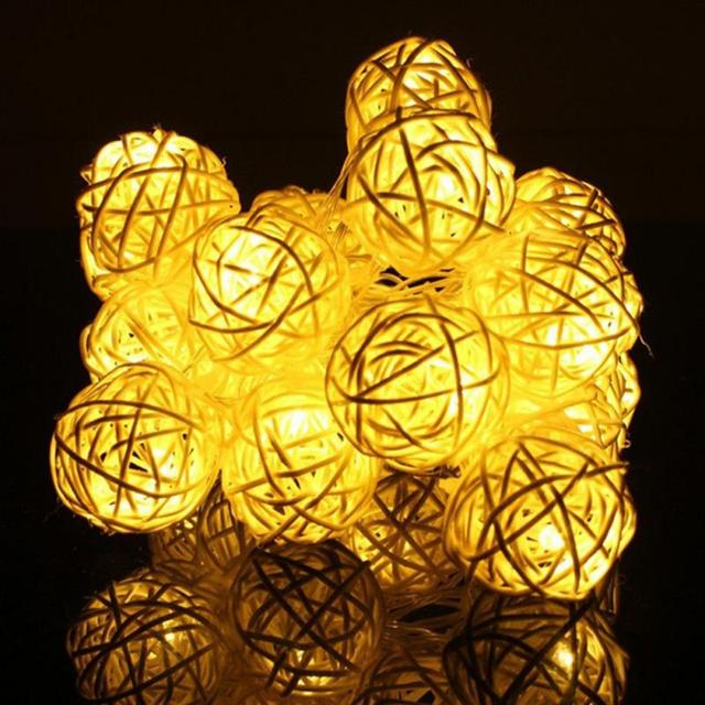 2 Meter 20 Leds Ballen LED String Fairy Lights Tuin Kerst Bruiloft ...