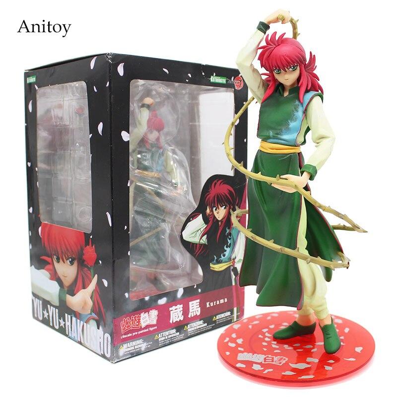 Anime Cartoon YuYu Hakusho KURAMA PVC Figure Collectible Toy 20cm KT4123 anime cartoon totoro no face reading pvc figure collectible model toy christmas birthday gift 18cm