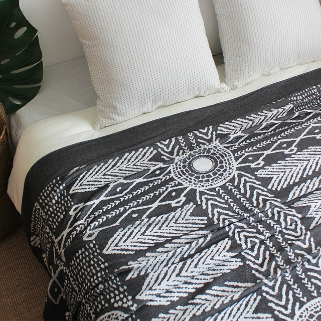 indian pattern modern geometric striped plaid nordic american style bedding couch cover thread towel grey throw