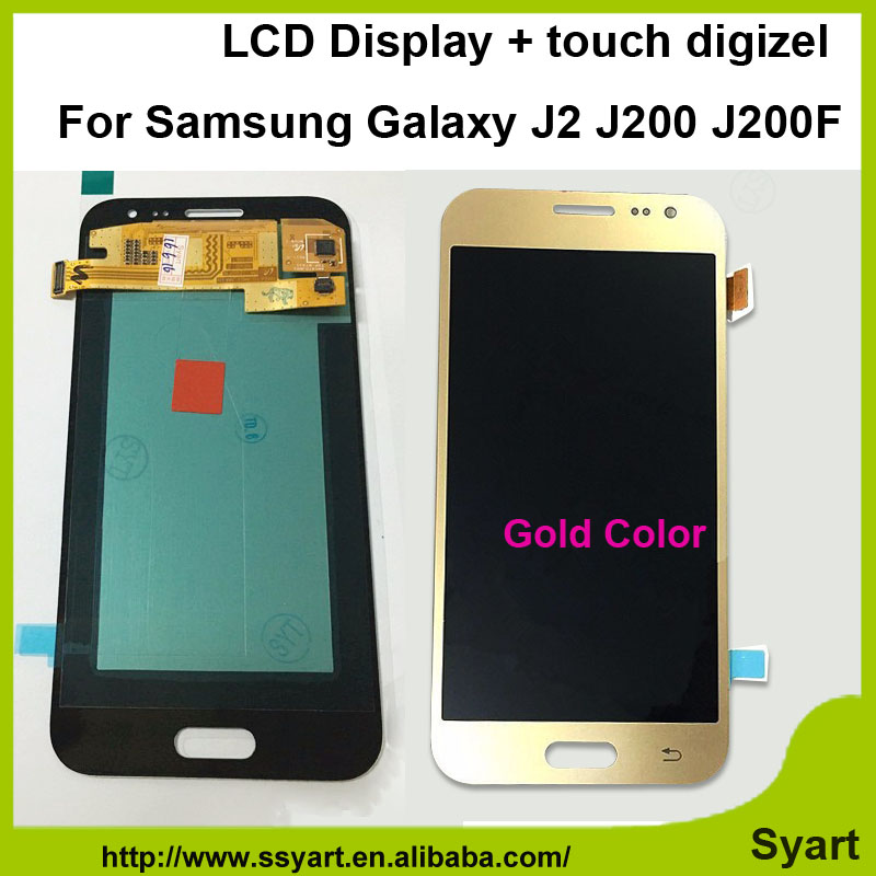 ФОТО 4.7inch 1pcs Gold color cheap price For Samsung Galaxy J2 J200F J200Y display Touch Screen Digitizer replacement lcd Assembly