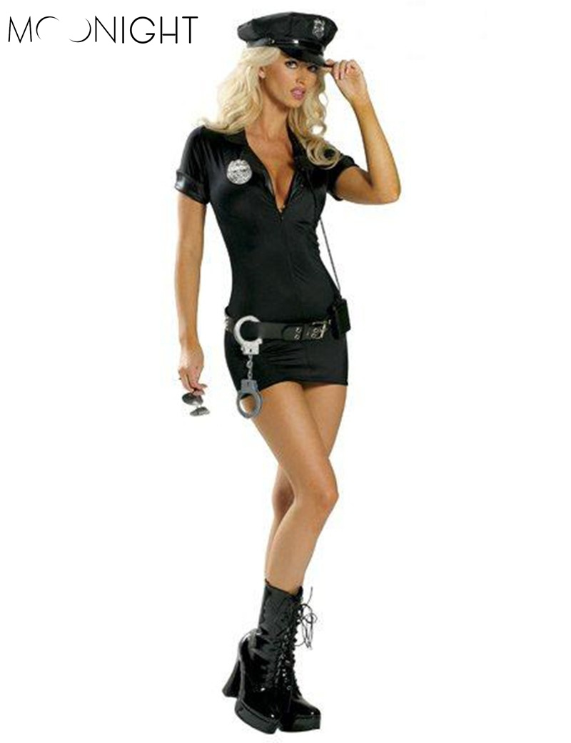 MOONIGHT Cop Uniform Outfits Police Officer Costume Club Game Halloween Costumes police