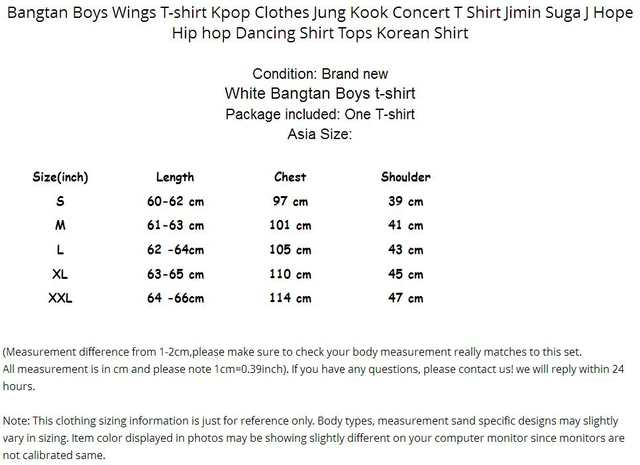 Bangtan Boys Wings T shirt Jimin Suga Concert T Shirts Kpop Clothes