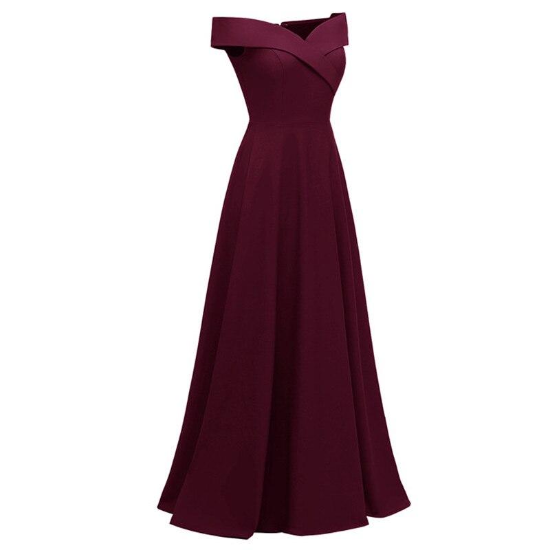 Mode 2019 été longues robes femmes Satin noble robes de soirée femme mince traînant sans manches robes de grande taille A2832