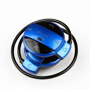 Image 3 - MINI501 Wireless Bluetooth earphones Stereo Foldable Sport Headphones TF card earphone FM Wireless With Mic For phone