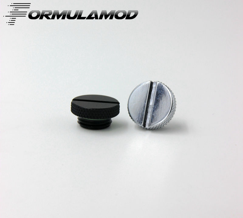 FormulaMod Fm-YZDT Groove Plugs, Black/Silver G1/4 Water Plugs, Can Twist With Coin