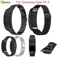 Milanese loop Stainless Metal Wrist Strap For Samsung Fit 2 SM-R360 Luxury Replacement smart Watchband Bracelet wrist band +tool