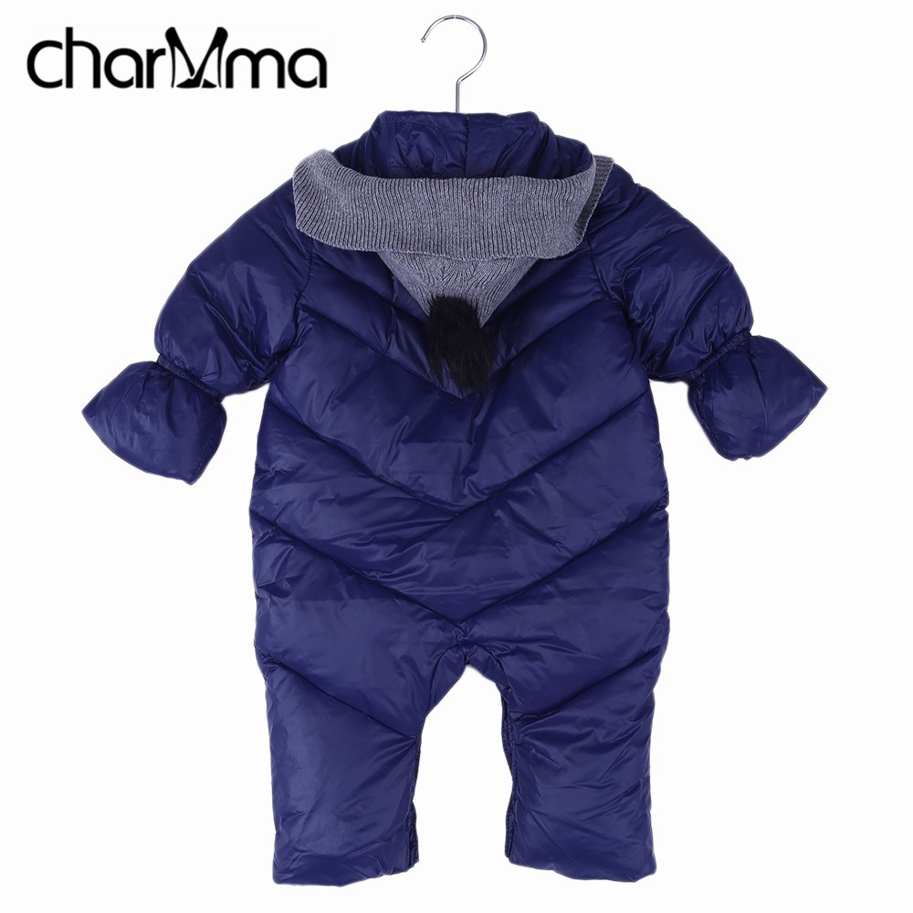Newborn Baby Romper Winter Overalls Brand Long Sleeve Cotton Baby Boy Hooded Jumpsuit Warm Kids Girl Clothes Infant Outwear newborn infant warm baby boy girl clothes cotton long sleeve hooded romper jumpsuit one pieces outfit tracksuit 0 24m