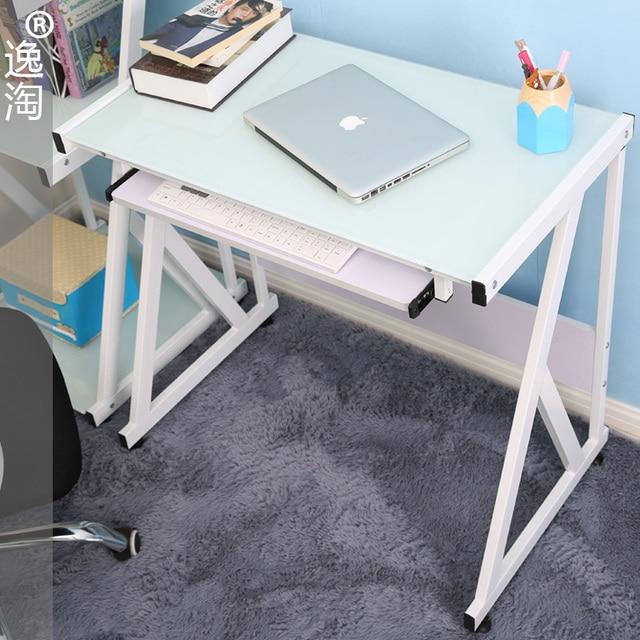 אדיר איקאה yi amoy אחד זכוכית שולחן מחשב שולחן מחשב נייד שולחן עבודה EG-13