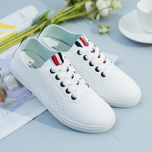 Hot cheap white leather comfortable outdoor shoes breathable running shoes women loafers sneakers zapatillas deportiva mujer