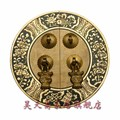 [Haotian vegetarian] circular house handle Chinese antique copper handle 14cm diameter HTB-032
