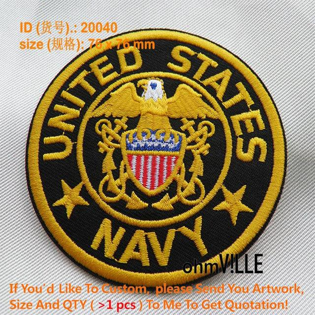 Patches United States Of Navy For Embroidered Iron On Patch Custom