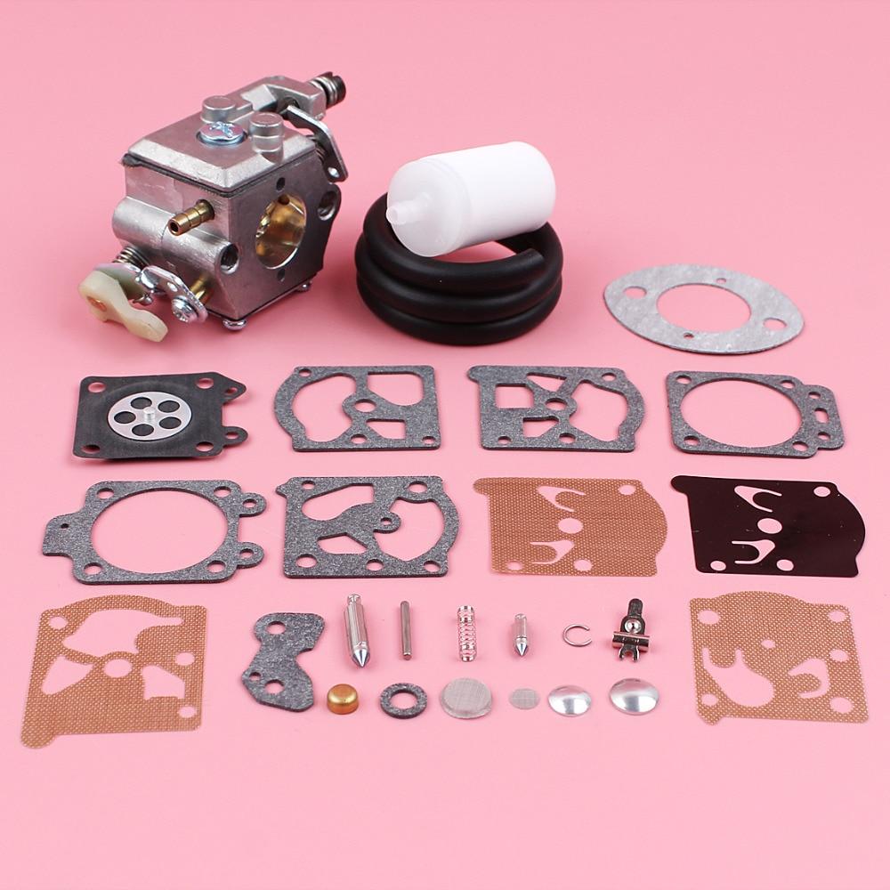 Carburetor Carb Rebuild Kit For Husqvarna 51 55 w//Fuel Filter Line 503281504