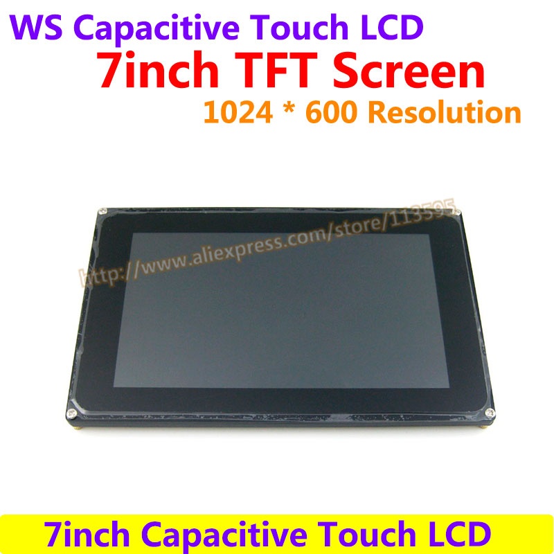 7inch Capacitive Touch LCD Display 1024*600 Resolution TFT Screen Demo board Module RGB and LVDS Interface FT5206GE1 Controller stm32f103rbt6development board learning board assessment board spi interface 2 4 tft color screen routines