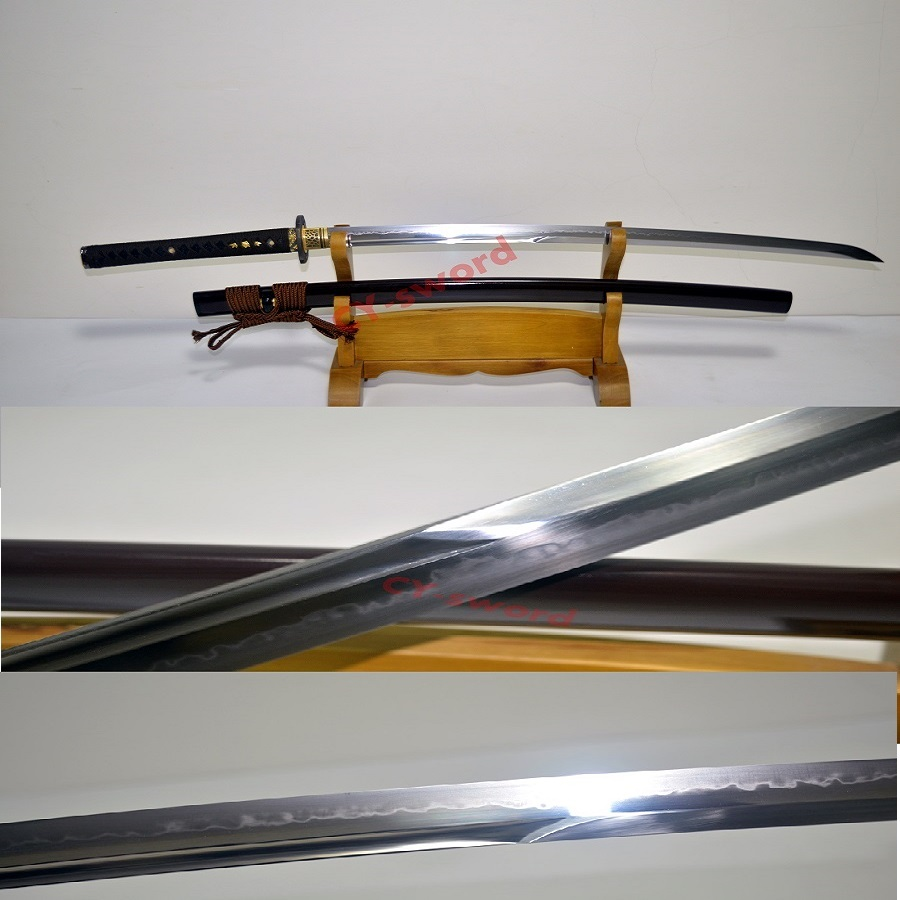HIGH QUALITY BATTLE READY Unokubi zukuri CLAY TEMPERED T 10 STEEL CHOJI HAMON SWORD JAPANESE SAMURAI