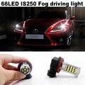 2X66 LED Para Lexus IS250 2006-2014 Acessórios H8/H9/H11 2835 chip de Lâmpadas LED Car Fog Driving Lâmpada de Luz Freeshipping