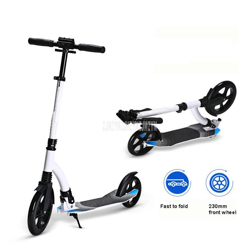 Planche à roulettes réglable de taille de KickScooter de ville de Longboard pliable de Scooter adulte portatif de deux roues au lieu de marcher
