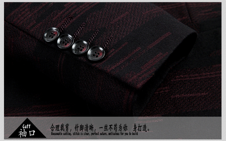WAEOLSA Men Fashion Blazers Dark Green Red Jackets Suits Man Slim Fit Blazer Male Elegant Outfits Office Garment Print Blaser For Man (11)